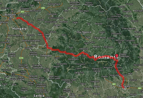 Budapest, Hungary to Bucharest, Romania by train via Brasov